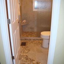 Bath modern flooring