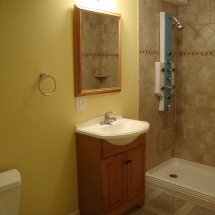 Lower level bath remodeling