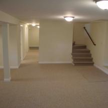 Modern basement remodel