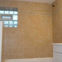bathroom remodel with tiles