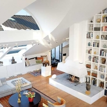 Ceiling-height-library-shelving